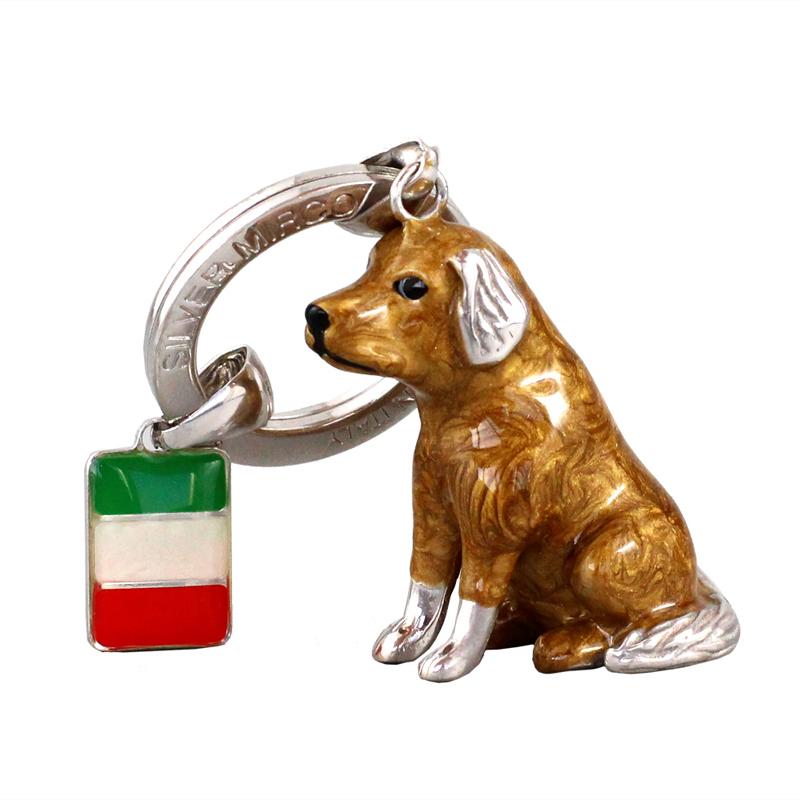 シルバー ミルコ イタリア ラッキーチャーム イヌとイタリアンフラッグ br-sm0005