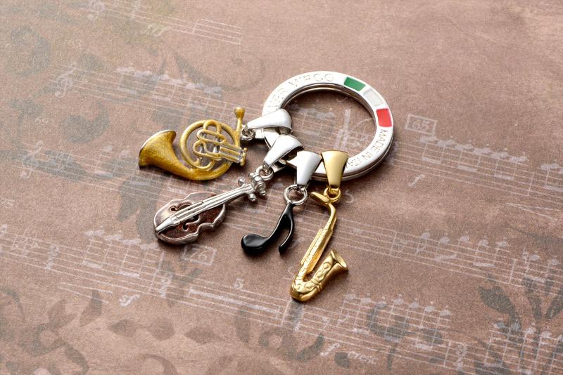 Silver Mirco シルバー ミルコ イタリア製七宝キーリング ラッキーチャーム br-sm000