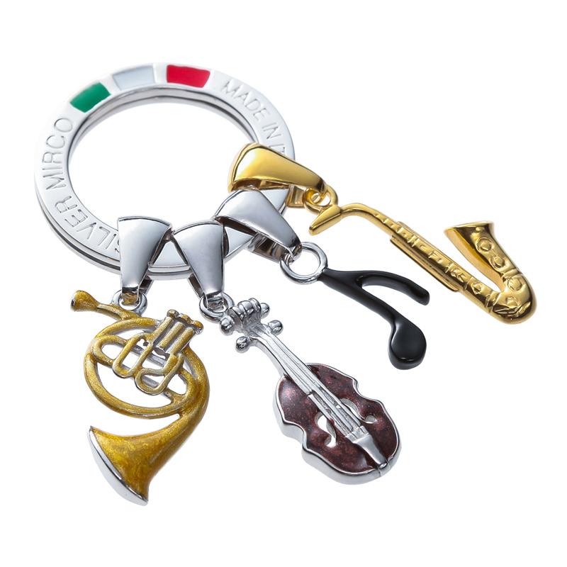 Silver Mirco シルバー ミルコ イタリア製七宝キーリング ラッキーチャーム br-sm000  ミュージック 人気の音楽にまつわるチャーム
