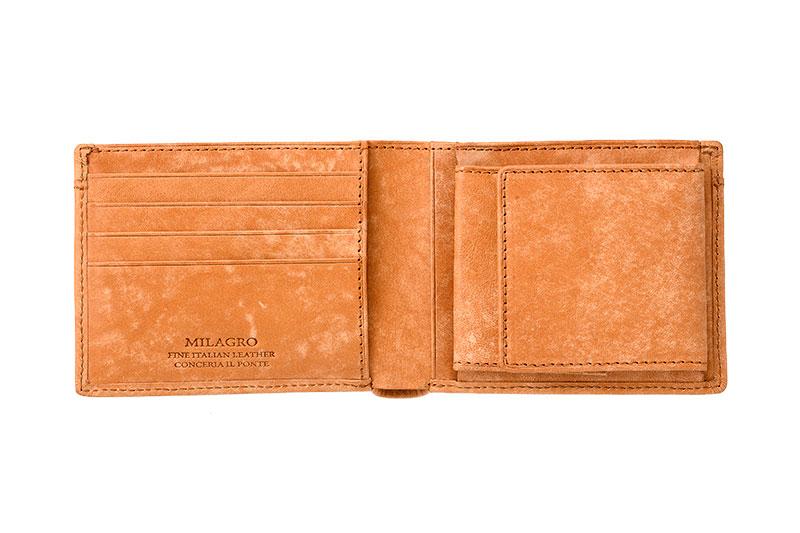 milagro ミラグロ イタリアンヌバック・21ポケット二つ折り財布 ca-p-2108