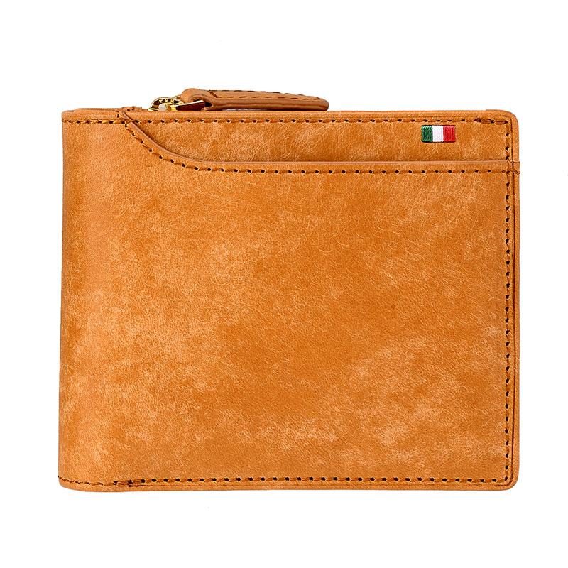 milagro ミラグロ イタリアンヌバック・23ポケット二つ折り財布 ca-p-572 ブラウン