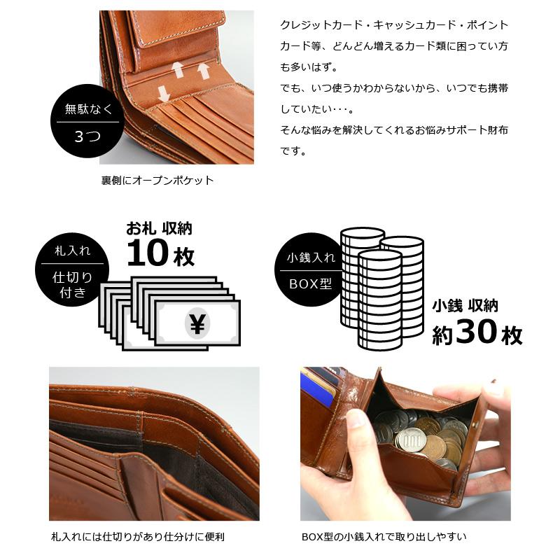 Milagro イタリアンレザー BOX小銭入れ21ポケット二つ折り財布 ca-s-2108 無駄なく3つ 札入れ1つ 小銭入れ1つ