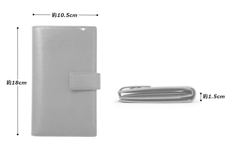 Milagro(ミラグロ)タンポナートレザー カード 30枚長財布 ca-s-2163 SPEC & SIZE 素材 牛革(イタリア製タンポナートレザー)、ポリエステル、金具 サイズと重さ(約)縦18cm×横10.5cm × 厚さ1.5cm / 150g 仕様 カードポケット×30、札入れ×1、オープンポケット×3 カラー 4色(ブラウン、ネイビー、オレンジ、バーガンディ)