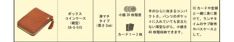 ボックスコインケース(縦型)