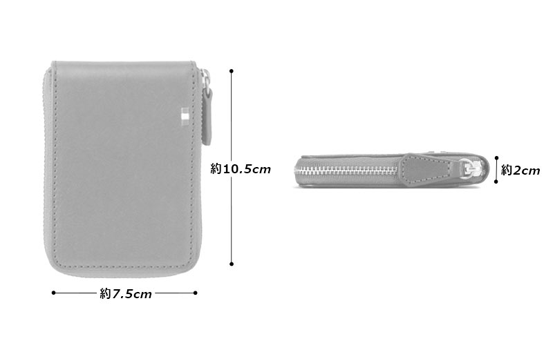 Milagro(ミラグロ)イタリアンレザー・ラウンドジップボックスコインケース cas515 素材 牛革(イタリアンレザー)、ポリエステル、真鍮、他 サイズと重さ(約) 縦:10.5cm × 横7.5cm × 厚み:2cm / 55g 仕様 背面:カードポケット×1 内部:カードポケット×1、箱型小銭入れ×1 カラー 1色(ブラウン)