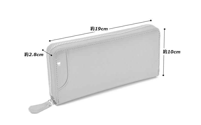 Milagro(ミラグロ) タンポナートレザー・ラウンドジップウォレット ca-s-539  サイズ(約) 縦19cm×横10cm × 厚さ2.8cm