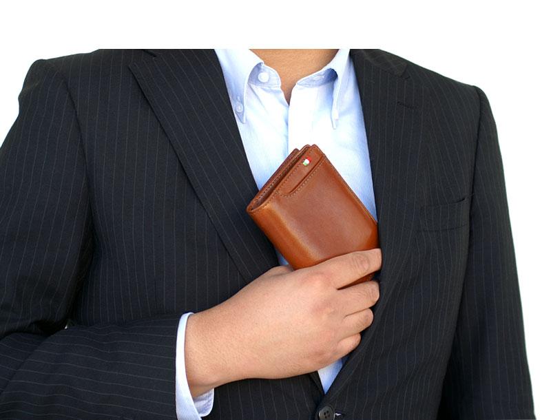 milagro ミラグロ イタリアンレザー・L字二つ折り財布 ca-s-571