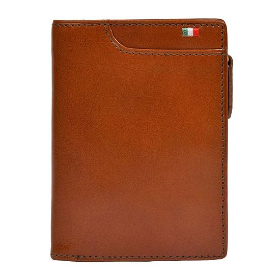 milagro ミラグロ イタリアンレザー・L字二つ折り財布 ca-s-571 ブラウン