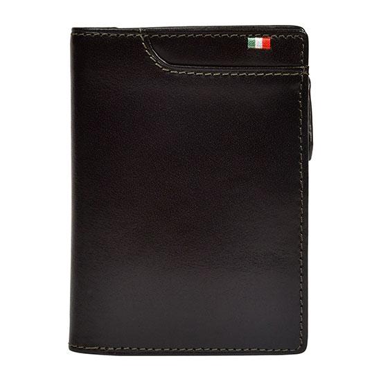 milagro ミラグロ イタリアンレザー・L字二つ折り財布 ca-s-571 チョコ