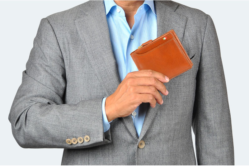 Milagro イタリアンレザー・23ポケット 2つ折り財布 ca-s-572