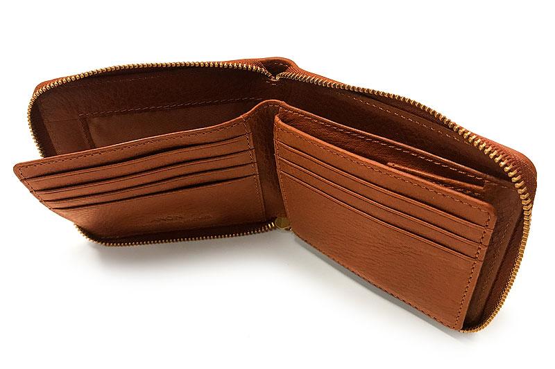 ANON(アノン) バケッタレザー・ラウンドファスナー二つ折り財布 ca-v-625