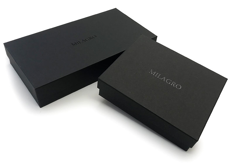 milagro ミラグロ イタリアンレザー・L字二つ折り財布 ca-s-571 化粧箱