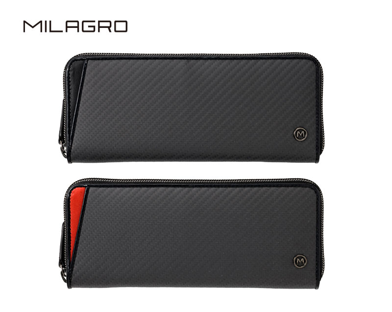 Milagro(ミラグロ) リアルカーボンF・蛇腹式スリムウォレット ea-mi-014