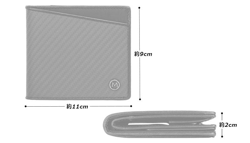 Milagro(ミラグロ) リアルカーボンF・ビルウォレット ea-mi-016 サイズ