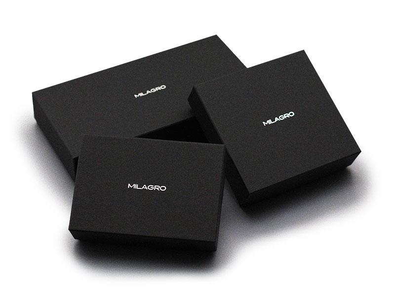Milagro(ミラグロ)リアルカーボンF・ラウンドファスナー2つ折り財布 ea-mi-013