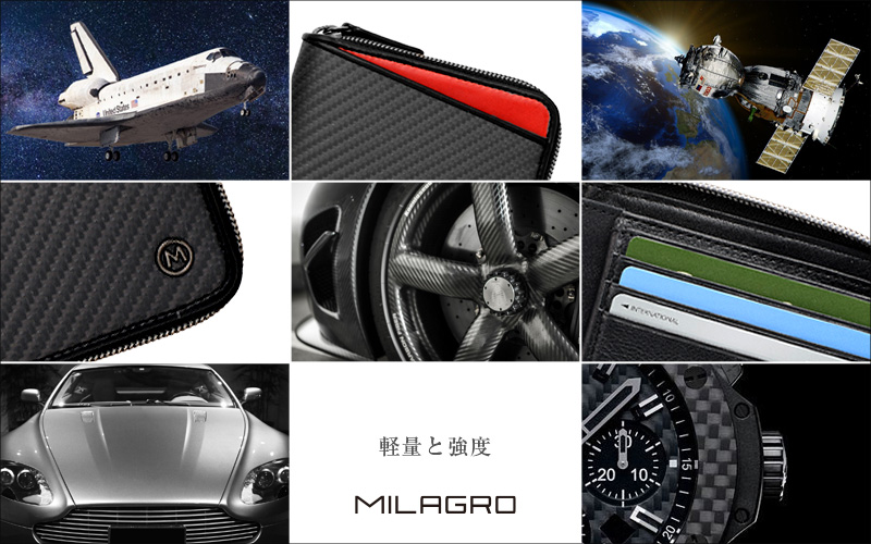 Milagro(ミラグロ) リアルカーボンF・スリムショルダーバッグ ea-mi-015