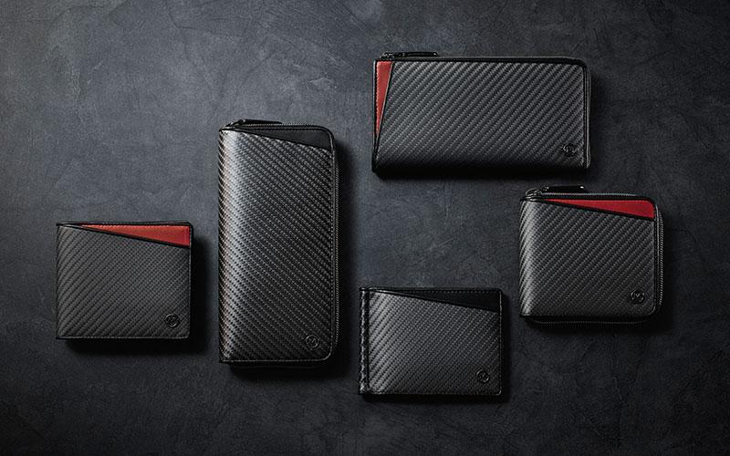 ミラグロ リアルカーボン シリーズ メンズ 財布 東レ カーボンシート