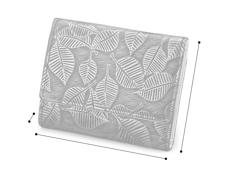 RINTO リーフ 三つ折り財布 ea-ri003 サイズ