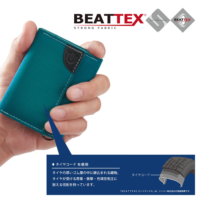 WEEKEND(ER)  BEATTEX × coruri 3つ折りウォレット hw-ws001