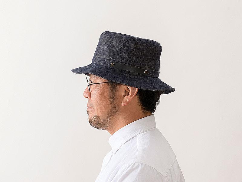 井上帽子 越後片貝木綿・デニムハット in-ed-h016