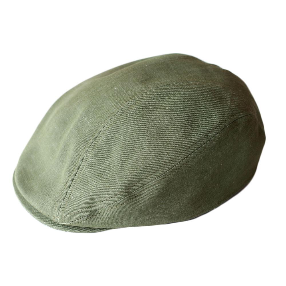 in-h006 井上帽子 ウォッシュコットンハンチング カーキ