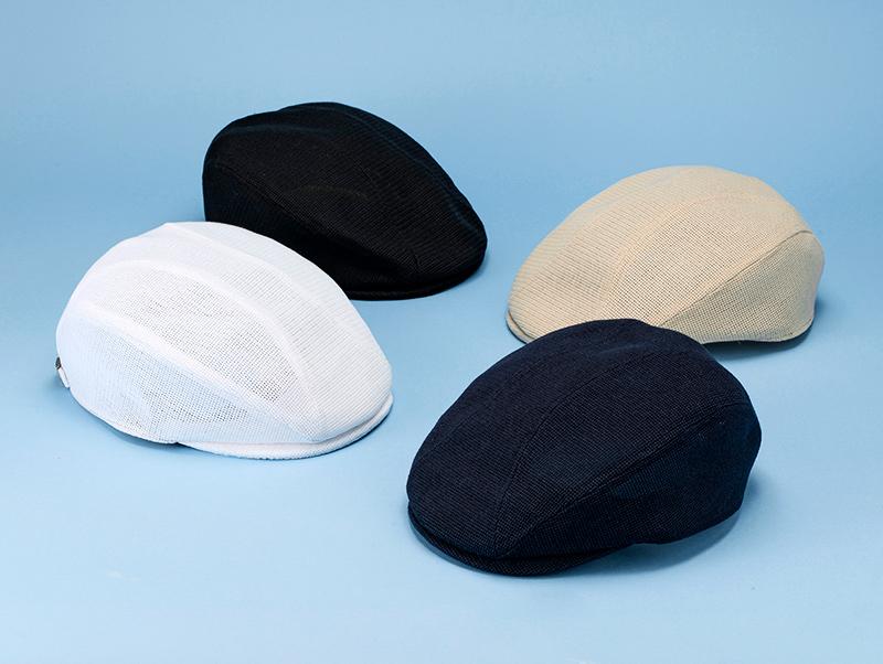 井上帽子 in-h007 涼感メッシュハンチング 日本製 涼感メッシュハンチング 洗える素材を使用した、オールハンドメイドのキャップ<
