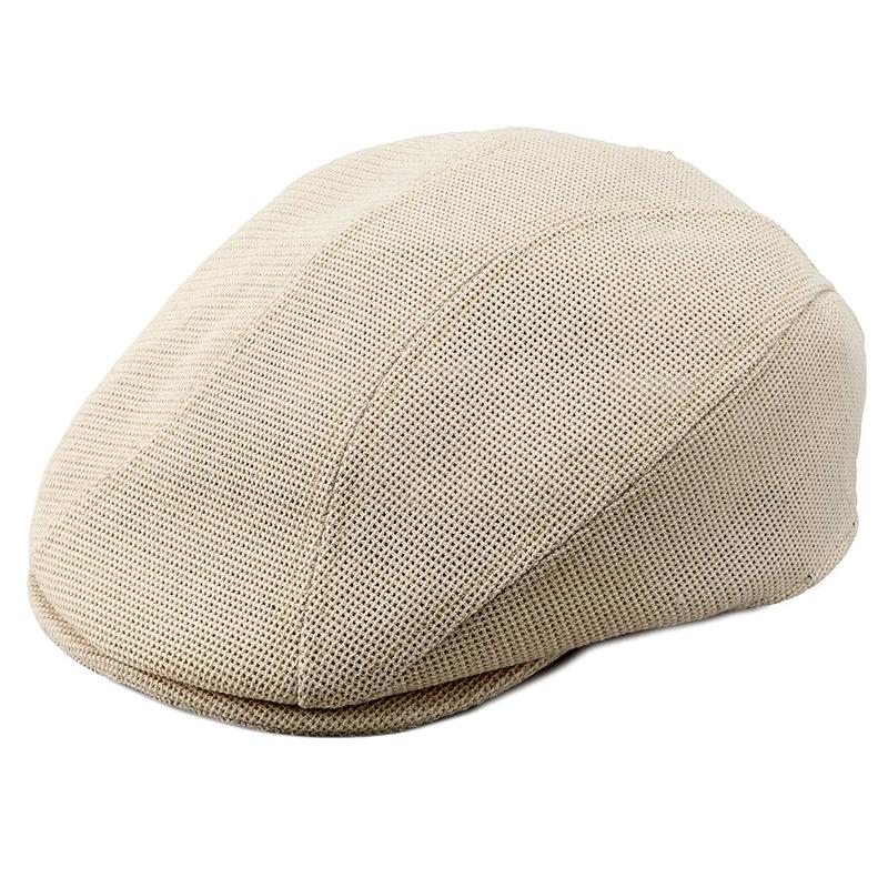 井上帽子 in-h007 涼感メッシュハンチング 日本製 キャメル
