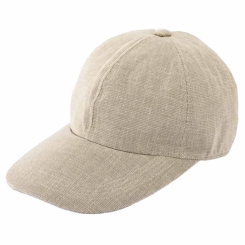井上帽子 in-hk004 柿渋染め 折りたたみキャップ 日本製  ベージュ
