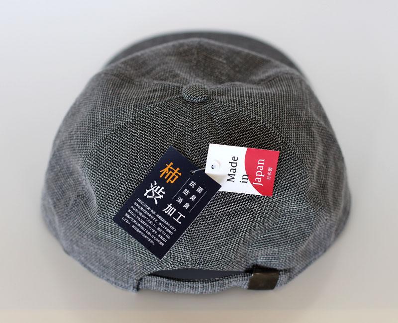 井上帽子 in-hk004 柿渋染め 折りたたみキャップ ブランド タグ 日本製 made in japan 柿渋染め
