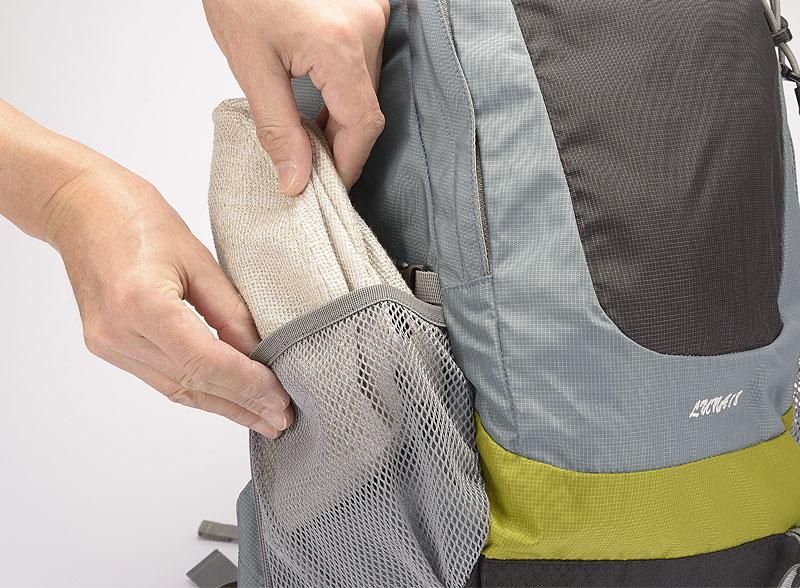井上帽子 in-hli011 折りたためる麻×メッシュハット 日本製 折りただんで持ち運び自由ベルト留めで安心 丸めて折りただんでベルトで留めることによりコンパクトになり、リュックの脇ポケットやパンツのポケットに収納可能です。