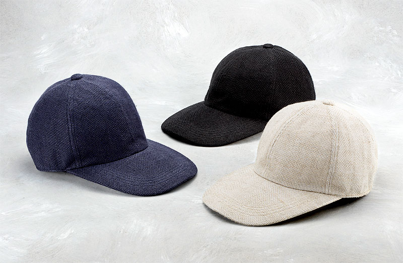 井上帽子 in-hli002 折りたためる麻のキャップ 日本製