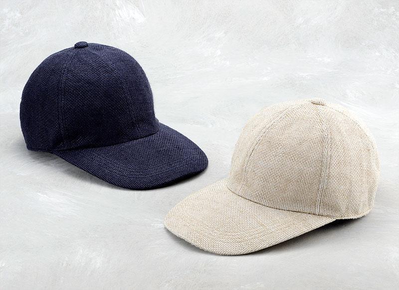 井上帽子 in-hli002 折りたためる麻のキャップ 日本製 通気性がよくかぶり心地の良いキャップ 麻100%の表地で仕上げたキャップです。メッシュ状に仕上げているため、風通しもよく、見た目通りの清涼感があります。また、非常に軽く、通気性も良いため、長時間かぶっていても蒸れにくくストレスがありません。汗で汚れても手洗い可能!乾きも早いので夏場には特にオススメです。