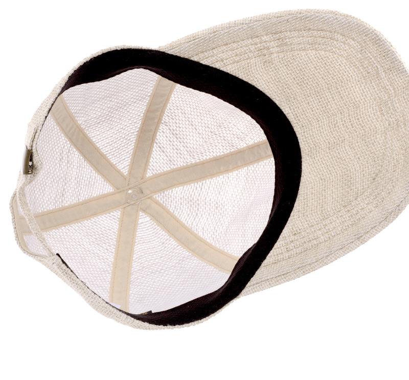 井上帽子 in-hli002 折りたためる麻のキャップ 日本製 メッシュ感のある麻素材で、太陽に透かすとほんのり奥が見えるほど。通気性がよく、涼しい着用感は夏の帽子に最適。