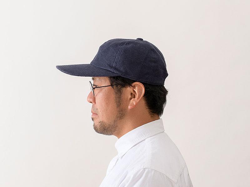 井上帽子 in-hli002 折りたためる麻のキャップ 日本製 サイド