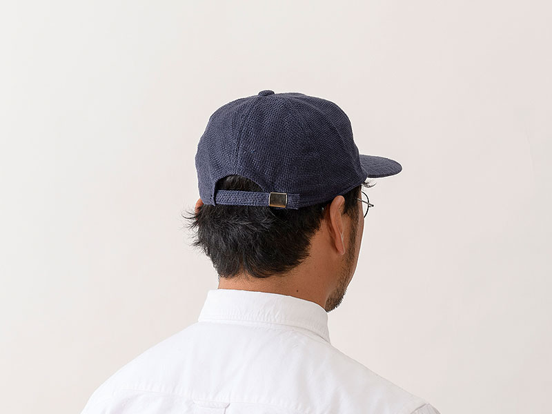 井上帽子 in-hli002 折りたためる麻のキャップ 日本製 バック