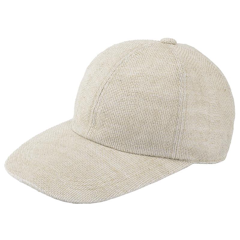 井上帽子 in-hli002 折りたためる麻のキャップ 日本製  ナチュラル