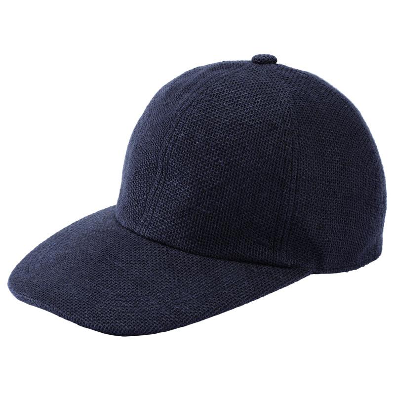 井上帽子 in-hli002 折りたためる麻のキャップ 日本製  ネイビー