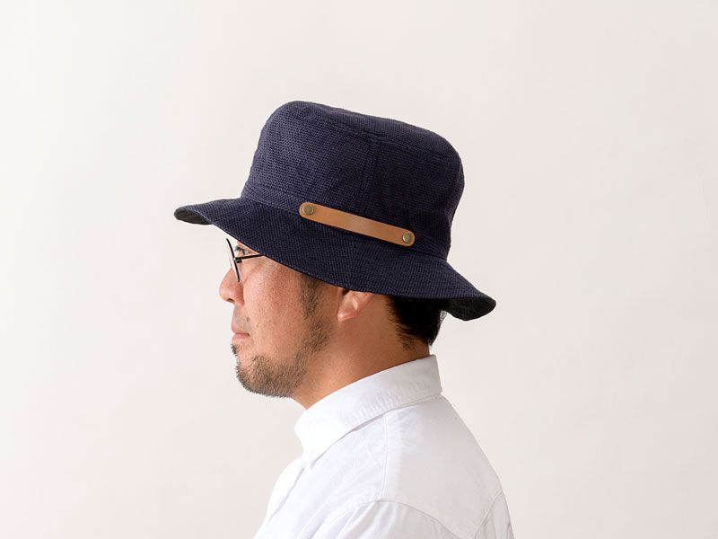 井上帽子 in-hli011 折りたためる麻×メッシュハット 日本製