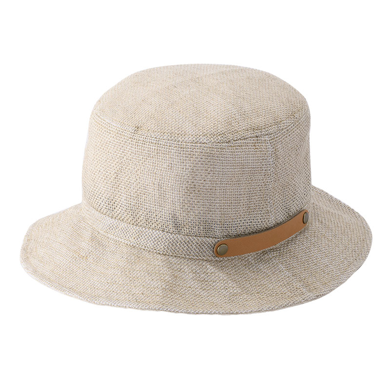 井上帽子 in-hli011 折りたためる麻×メッシュハット 日本製 ナチュラル