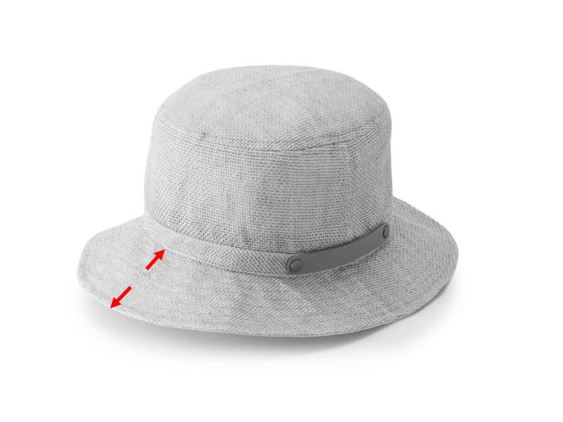 井上帽子 in-hli011 折りたためる麻×メッシュハット 日本製 サイズ