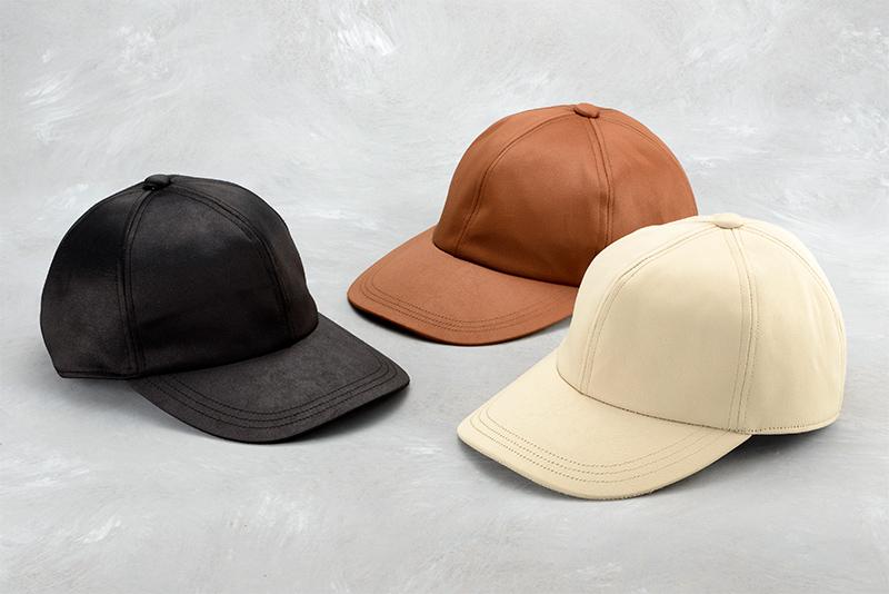 井上帽子 in-hku005レザー調キャップ 日本製 洗える素材を使用した、オールハンドメイドのキャップ<