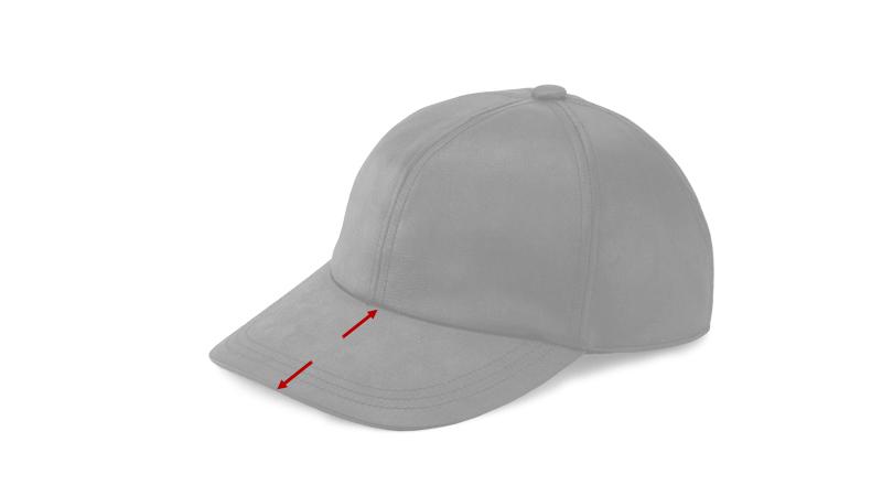 井上帽子 in-hku005レザー調キャップ 日本製  サイズ