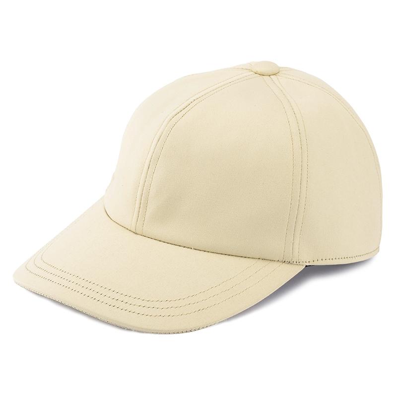 井上帽子 in-hku005レザー調キャップ 日本製 キャメル