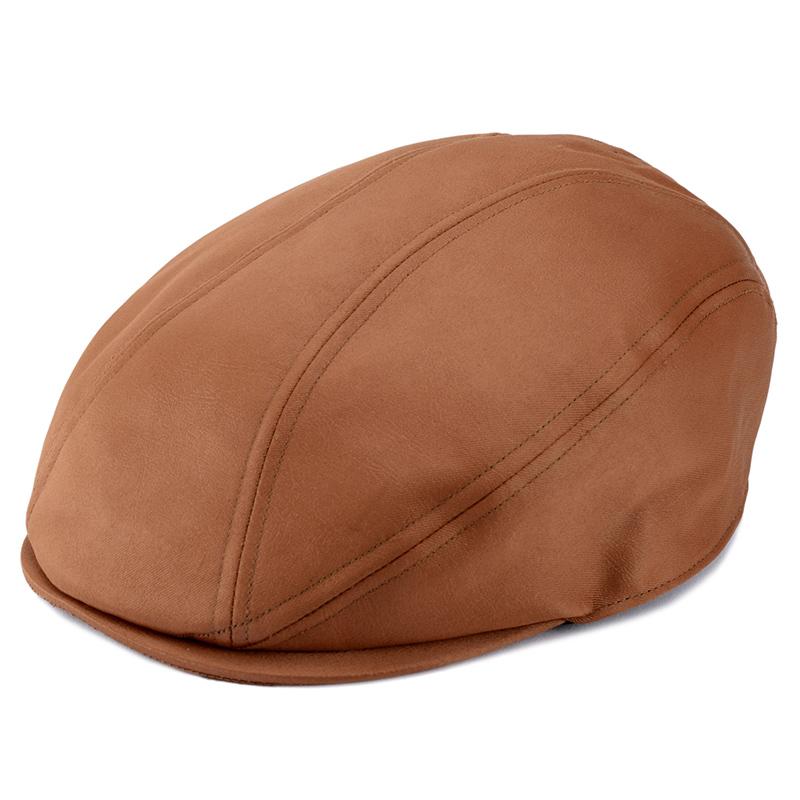 井上帽子 in-hpu008 レザー調ハンチング シンプルでかっこいい、大人のレザー調のハンチング シンプルなデザインながら、レザーのような質感がかっこいい、大人のカジュアルハンチングです。品のある大人の秋冬ファッションにおすすめです。本革ではないので、雨の日などでも普段使いできます。