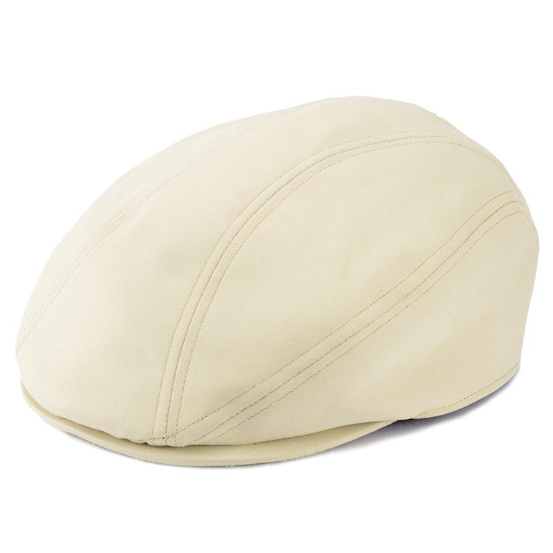 井上帽子 in-hpu008 レザー調ハンチング ホワイト