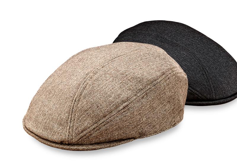 井上帽子 in-hw010 洗えるウールハンチング 日本製 大人の定番 ヘリンボーン柄