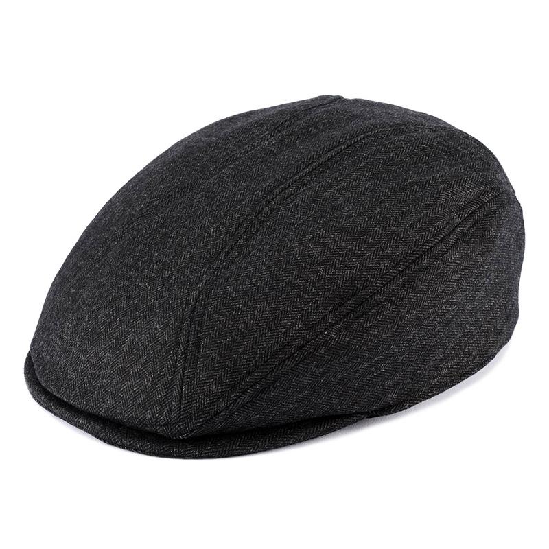 井上帽子 in-hw010 洗えるウールハンチング 日本製  ブラック