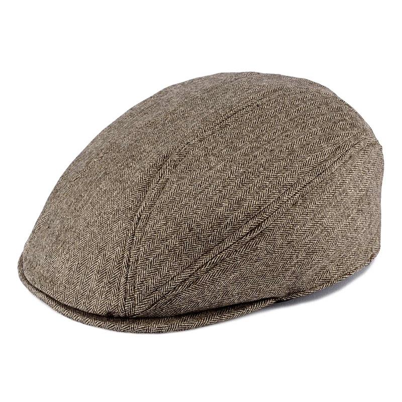 井上帽子 in-hw010 洗えるウールハンチング 日本製  ブラウン