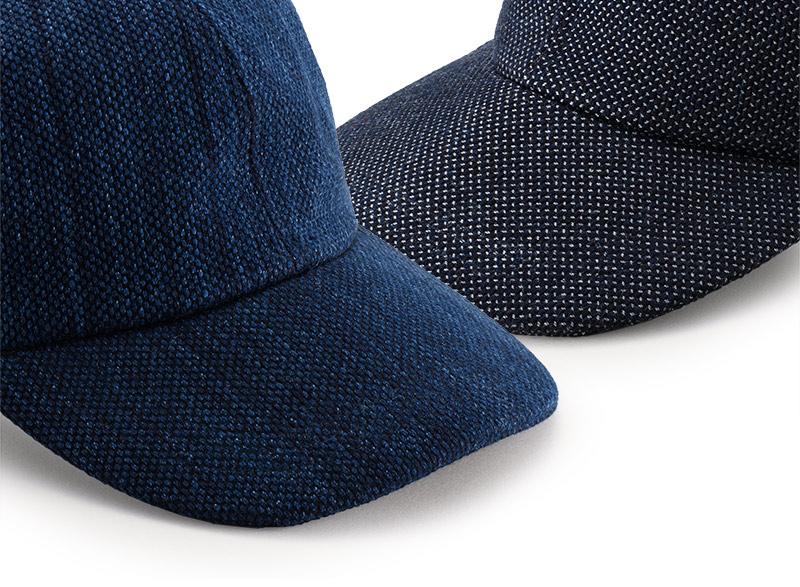 小島屋×井上帽子 武州正藍染め刺し子 キャップ in-koh015 刺し子 幾何学模様 刺繍 耐久性 保湿性 吸湿性に優れている