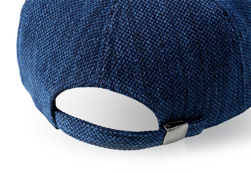 小島屋×井上帽子 武州正藍染め刺し子 キャップ in-koh015 持ち運び 便利 たためる 調整 アジャスター リュック ポケット パンツのポケット 小さく折り畳んで 収納可能 55cmから最大60cm 贈り物